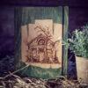Agenda din lemn - model Casa Bufnitelor - verde