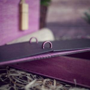 Set Cutie cu mini album foto si stick USB - model fluturi