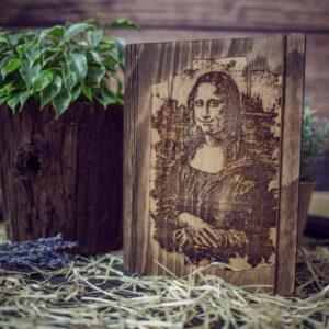 Agenda din lemn - model Mona Lisa
